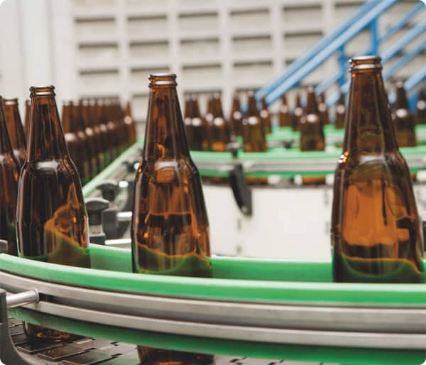 Bottles being produced in Wrexham factory